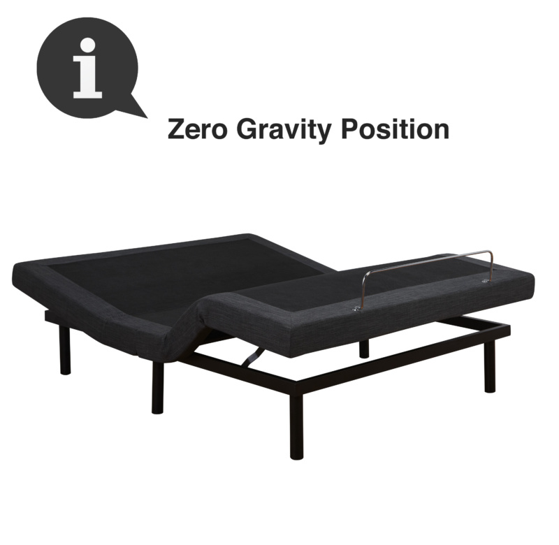 Adjustable Comfort Adjustable Bed Base Zero Gravity Position