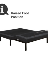 Adjustable Comfort Adjustable Bed Base Raised Foot Position