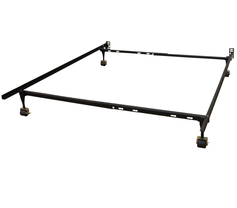 Hercules Standard Adjustable Metal Bed Frame with Locking Rug Rollers